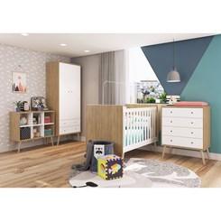 Guarda Roupas Infantil 2 Portas Pés Palito Completa Móveis Itapuã com Branco