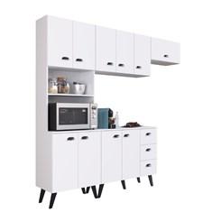 Kit Cozinha com 10 Portas 3 Gavetas Retro Mia Coccina - Art In - Branco