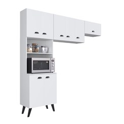 Kit Cozinha com 8 Portas Retro Mia Coccina - Art In - Branco