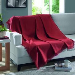 Manta de algodão Marrocos Dohler Liso Vermelho