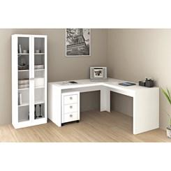 Mesa de escritório Angular Me4116 - Tecno Mobili - Branco
