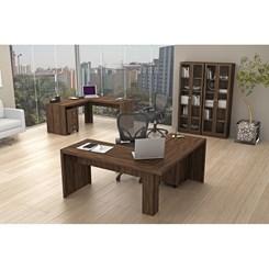 Mesa de escritório Angular Me4116 - Tecno Mobili - Nogal