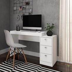 Mesa escrivaninha com 3 GV ME402 - DJD - Branco