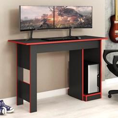 Mesa Gamer 117cm Com Suporte CPU Fellicci Grafite/Vermelho