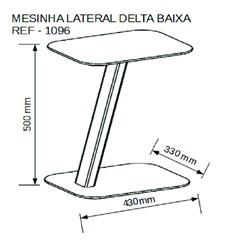 Mesa Lateral Baixa Delta - Volttoni - Tampo/Base/Aste Natural