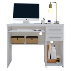 Mesa para Computador 2 Gavetas 9665 Branco Foscarini