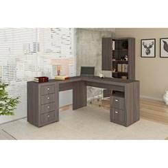 Mesa Para escritório 2 Gavetas Me4129 - Tecno Mobili - Carvalho