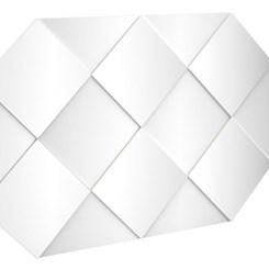 Painel Decorativo 127,5 cm - Dalla Costa - Off White/Espelho