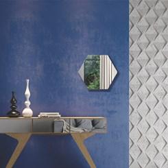 Painel Decorativo Hexagono 34,5Cm - Dalla Costa - Off White
