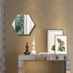 Painel Decorativo Hexagono 69Cm - Dalla Costa - Off White