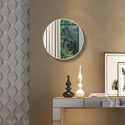 Painel Decorativo Redondo 60Cm - Dalla Costa - Off White