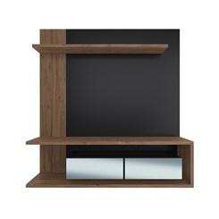 Painel EST203 C/ Espelho Para TV até 60 Pol. 2 Portas CRM Preto/Madeirado