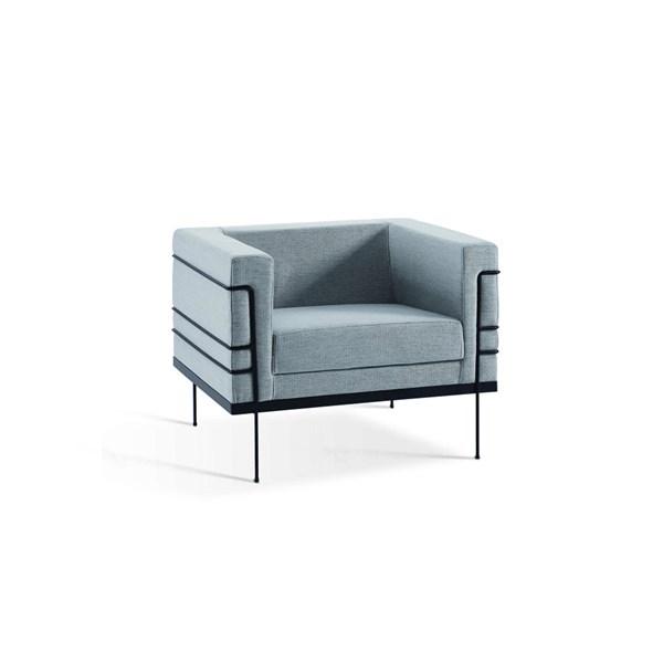 Poltrona Le Corbusier - DAF - Linhão Cinza