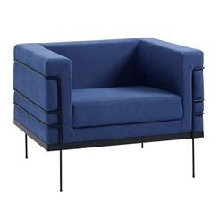 Poltrona Le Corbusier  - DAF - Lona  Azul Marinho