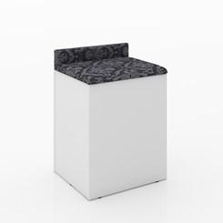 Puff Baú Pu2052 com encosto - Tecno Mobili - Branco/Tec 369