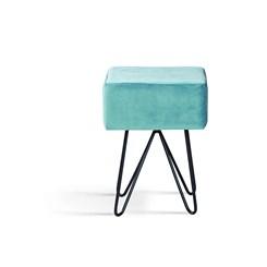 Puff Box  - DAF - Veludo Azul