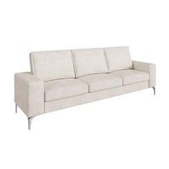 Sofá de 3 lugares com espuma D 28 Toio CDP Bege e branco