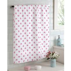 Toalha de banho felpuda Prisma Dohler coração Rosa